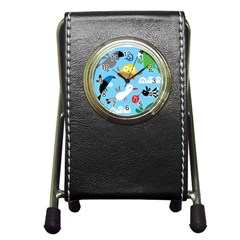 New Zealand Birds Close Fly Animals Pen Holder Desk Clocks by Mariart