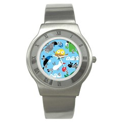 New Zealand Birds Close Fly Animals Stainless Steel Watch by Mariart