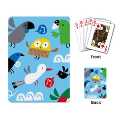 New Zealand Birds Close Fly Animals Playing Card by Mariart
