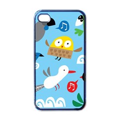 New Zealand Birds Close Fly Animals Apple Iphone 4 Case (black) by Mariart