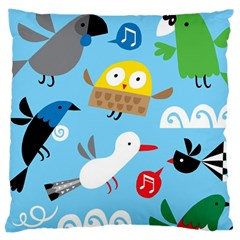 New Zealand Birds Close Fly Animals Large Cushion Case (two Sides) by Mariart