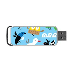 New Zealand Birds Close Fly Animals Portable Usb Flash (one Side) by Mariart