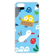 New Zealand Birds Close Fly Animals Apple Iphone 5 Seamless Case (white) by Mariart