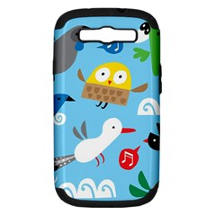 New Zealand Birds Close Fly Animals Samsung Galaxy S Iii Hardshell Case (pc+silicone) by Mariart