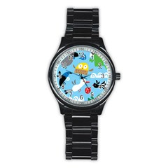 New Zealand Birds Close Fly Animals Stainless Steel Round Watch by Mariart