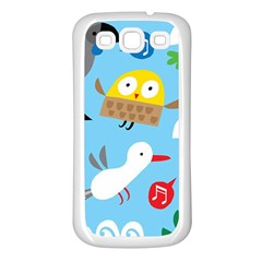 New Zealand Birds Close Fly Animals Samsung Galaxy S3 Back Case (white) by Mariart