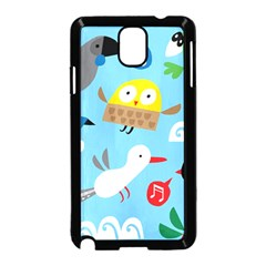 New Zealand Birds Close Fly Animals Samsung Galaxy Note 3 Neo Hardshell Case (black) by Mariart