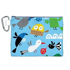 New Zealand Birds Close Fly Animals Canvas Cosmetic Bag (xl) by Mariart