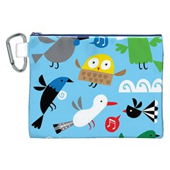 New Zealand Birds Close Fly Animals Canvas Cosmetic Bag (xxl) by Mariart