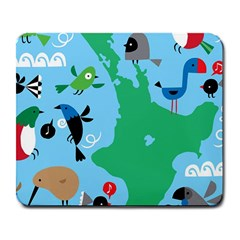 New Zealand Birds Detail Animals Fly Large Mousepads by Mariart