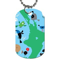 New Zealand Birds Detail Animals Fly Dog Tag (one Side) by Mariart