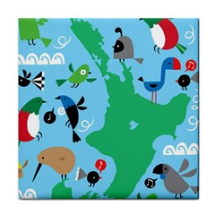 New Zealand Birds Detail Animals Fly Face Towel by Mariart
