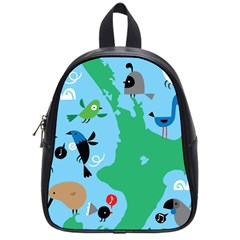 New Zealand Birds Detail Animals Fly School Bags (small)  by Mariart