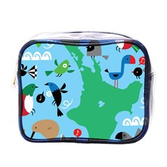 New Zealand Birds Detail Animals Fly Mini Toiletries Bags by Mariart