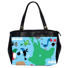 New Zealand Birds Detail Animals Fly Office Handbags (2 Sides)  by Mariart
