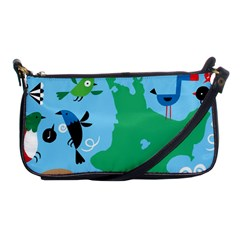 New Zealand Birds Detail Animals Fly Shoulder Clutch Bags by Mariart