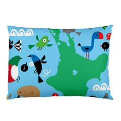 New Zealand Birds Detail Animals Fly Pillow Case (two Sides) by Mariart