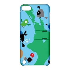 New Zealand Birds Detail Animals Fly Apple Ipod Touch 5 Hardshell Case With Stand by Mariart