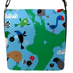 New Zealand Birds Detail Animals Fly Flap Messenger Bag (s) by Mariart