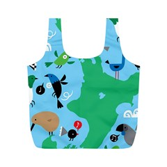 New Zealand Birds Detail Animals Fly Full Print Recycle Bags (m)  by Mariart