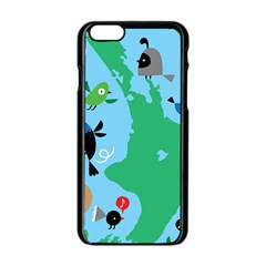 New Zealand Birds Detail Animals Fly Apple Iphone 6/6s Black Enamel Case by Mariart