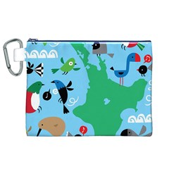 New Zealand Birds Detail Animals Fly Canvas Cosmetic Bag (xl) by Mariart