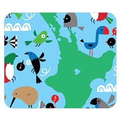 New Zealand Birds Detail Animals Fly Double Sided Flano Blanket (small)  by Mariart