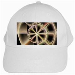 Background With Fractal Crazy Wheel White Cap by Simbadda