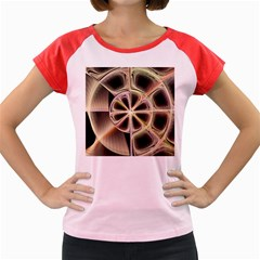 Background With Fractal Crazy Wheel Women s Cap Sleeve T Shirt by Simbadda