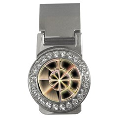 Background With Fractal Crazy Wheel Money Clips (cz)  by Simbadda