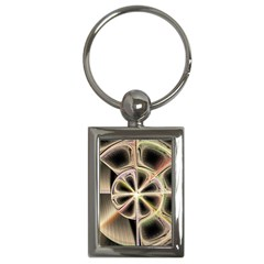 Background With Fractal Crazy Wheel Key Chains (rectangle)  by Simbadda
