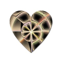 Background With Fractal Crazy Wheel Heart Magnet by Simbadda