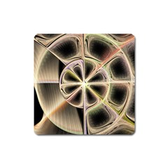 Background With Fractal Crazy Wheel Square Magnet by Simbadda