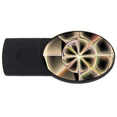 Background With Fractal Crazy Wheel Usb Flash Drive Oval (4 Gb) by Simbadda