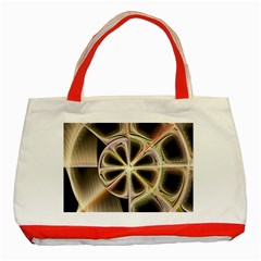 Background With Fractal Crazy Wheel Classic Tote Bag (red) by Simbadda