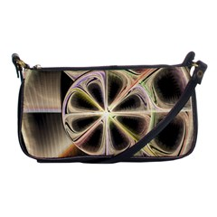 Background With Fractal Crazy Wheel Shoulder Clutch Bags by Simbadda