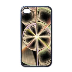 Background With Fractal Crazy Wheel Apple Iphone 4 Case (black) by Simbadda