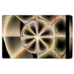 Background With Fractal Crazy Wheel Apple Ipad 3/4 Flip Case by Simbadda