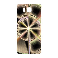 Background With Fractal Crazy Wheel Samsung Galaxy Alpha Hardshell Back Case by Simbadda