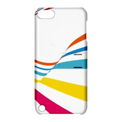 Line Rainbow Orange Blue Yellow Red Pink White Wave Waves Apple Ipod Touch 5 Hardshell Case With Stand by Mariart