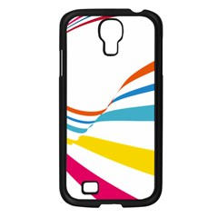 Line Rainbow Orange Blue Yellow Red Pink White Wave Waves Samsung Galaxy S4 I9500/ I9505 Case (black) by Mariart