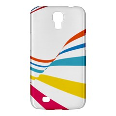 Line Rainbow Orange Blue Yellow Red Pink White Wave Waves Samsung Galaxy Mega 6 3  I9200 Hardshell Case