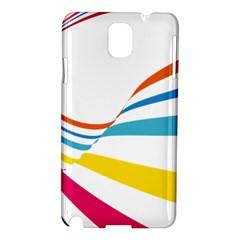 Line Rainbow Orange Blue Yellow Red Pink White Wave Waves Samsung Galaxy Note 3 N9005 Hardshell Case