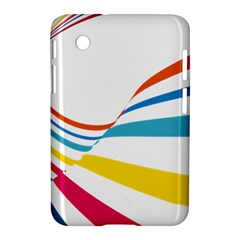 Line Rainbow Orange Blue Yellow Red Pink White Wave Waves Samsung Galaxy Tab 2 (7 ) P3100 Hardshell Case