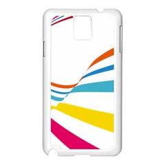 Line Rainbow Orange Blue Yellow Red Pink White Wave Waves Samsung Galaxy Note 3 N9005 Case (white)
