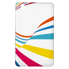 Line Rainbow Orange Blue Yellow Red Pink White Wave Waves Samsung Galaxy Tab Pro 8 4 Hardshell Case by Mariart