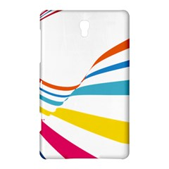 Line Rainbow Orange Blue Yellow Red Pink White Wave Waves Samsung Galaxy Tab S (8 4 ) Hardshell Case
