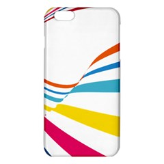 Line Rainbow Orange Blue Yellow Red Pink White Wave Waves Iphone 6 Plus/6s Plus Tpu Case by Mariart