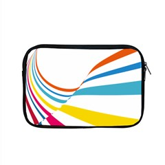 Line Rainbow Orange Blue Yellow Red Pink White Wave Waves Apple Macbook Pro 15  Zipper Case by Mariart