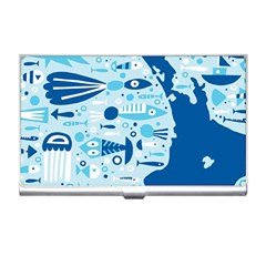 New Zealand Fish Detail Blue Sea Shark Business Card Holders by Mariart